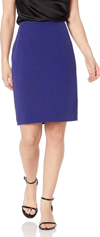 Le Suit Women's V-Neck 2 Button Seamed Crepe Skirt Suit