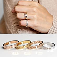 Best personalized stack rings Reviews