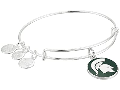 Alex and Ani Color Infusion Michigan State University Logo II Bangle (Shiny Silver) Bracelet