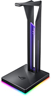ASUS ROG Throne Qi Gaming Headset Stand - Wireless Charging   2 USB Ports & Aux Input   Arc Design for Stable & Secure Sto...