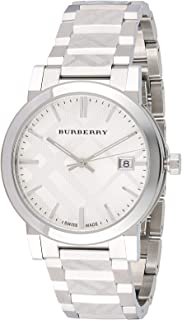 Burberry Women's White Dial Stainless Steel Band Watch - BU9037