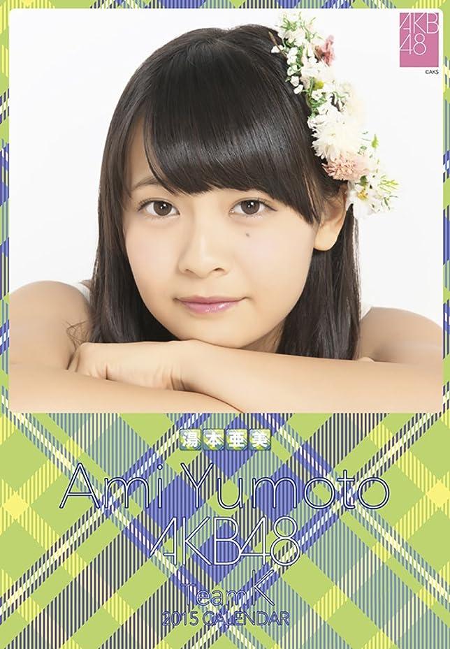 増幅マオリハウスクリアファイル付 (卓上)AKB48 湯本亜美 カレンダー 2015年