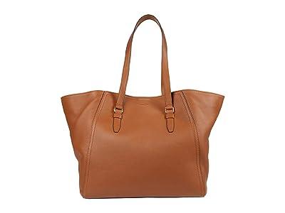 Shinola Detroit Gibson Tote Pebble Grain Leather MG (Cognac) Handbags