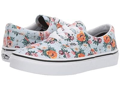 Vans Kids Era (Little Kid/Big Kid) ((Garden Floral) True White) Girls Shoes