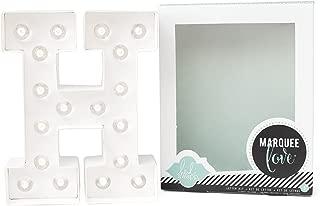 Heidi Swapp Marquee Love Led Letras H, Cartón, Blanco, 21.6x5.6x21.6 cm