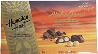 Aloha Gems Milk Chocolate Macadamia Nuts Covered In Premium Milk Chocolate - 16 oz. (28 Pieces)