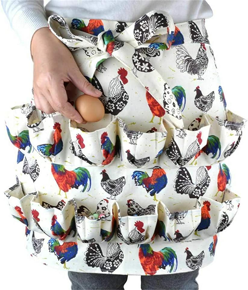 Eggs Collecting Apron, Eggs Gathering Apron, Eggs Holding Apron for Chicken Duck Goose Eggs