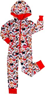 Matching Family Cat Christmas Jumpsuits - Funny Xmas PJ's for Christmas Morning
