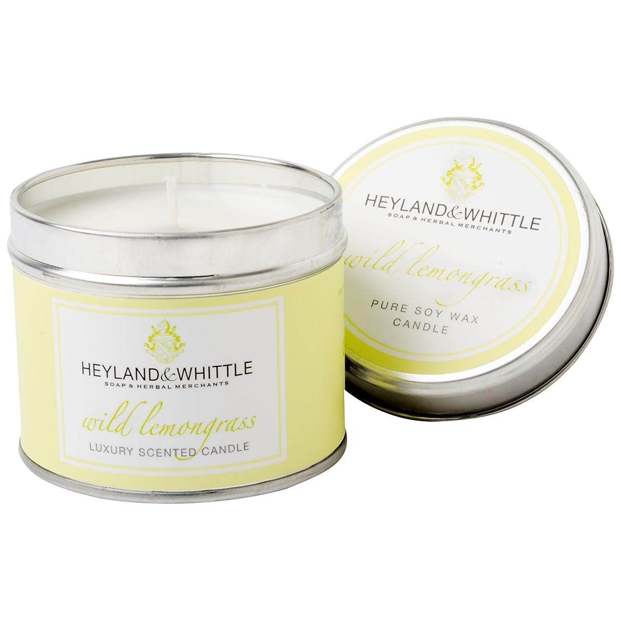 行動巨人おとなしいHeyland&削るレモングラスキャンドルスズ (Heyland & Whittle) - Heyland & Whittle Lemongrass Candle Tin [並行輸入品]