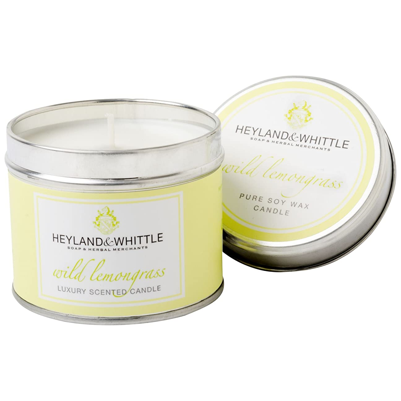 ゴージャス見込み困ったHeyland&削るレモングラスキャンドルスズ (Heyland & Whittle) - Heyland & Whittle Lemongrass Candle Tin [並行輸入品]