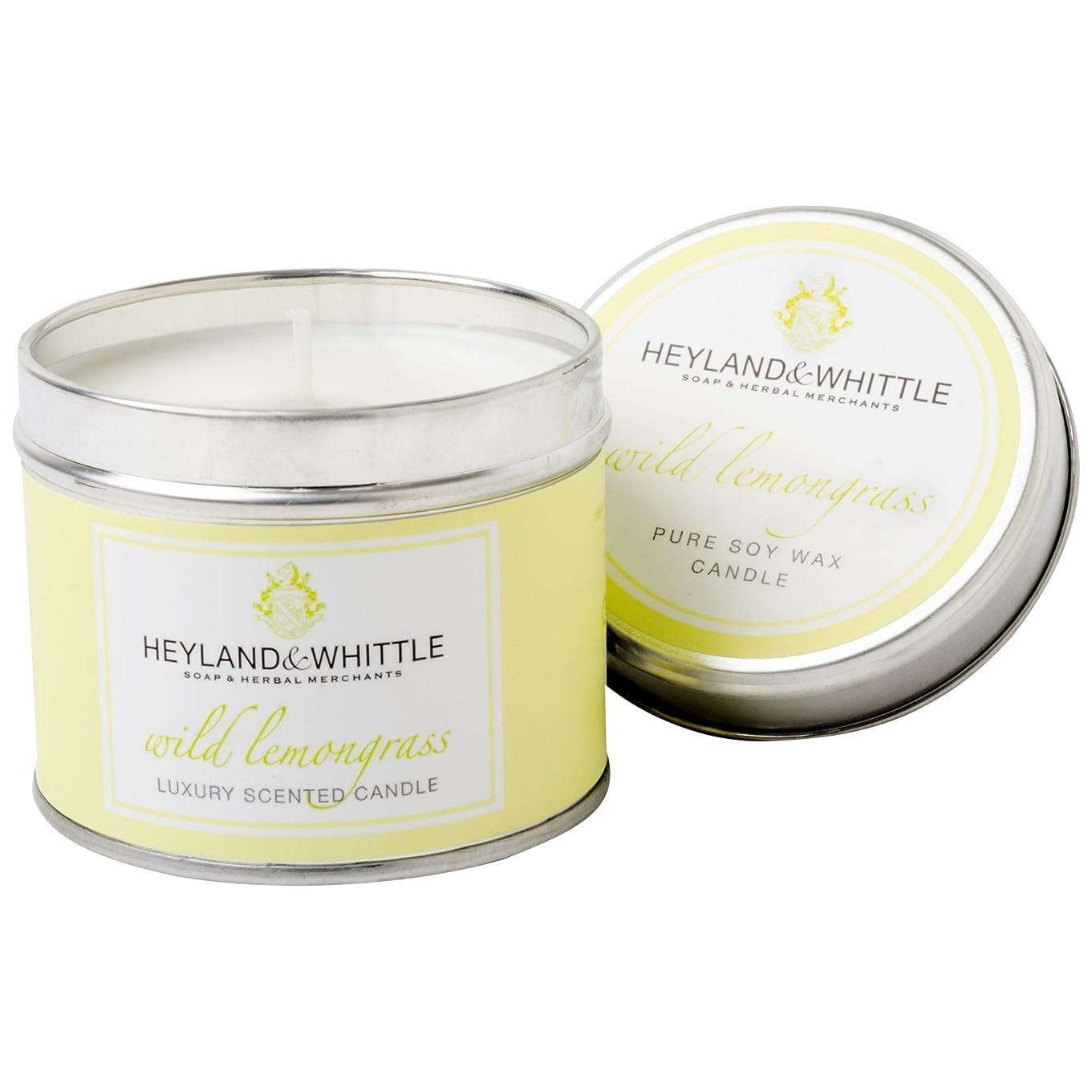 滞在原油野ウサギHeyland&削るレモングラスキャンドルスズ (Heyland & Whittle) - Heyland & Whittle Lemongrass Candle Tin [並行輸入品]