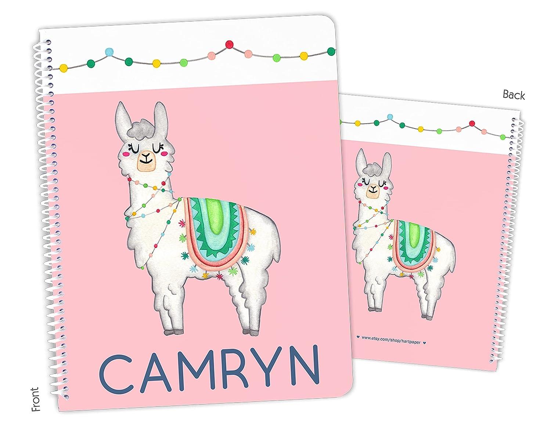 Personalized Rainbow Popular products Llama Atlanta Mall Alpaca Bound Sketchbo Spiral Notebook