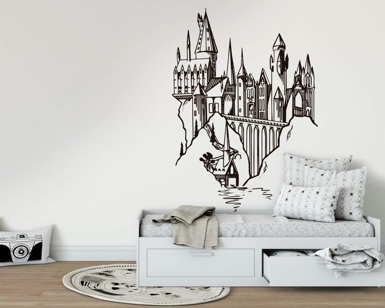 Kuarki Hogwarts Schloss Wandtattoo Harry Potter Wandaufkleber Harry Potter Film Inspiriert Hohe Qualitat Zwei Verfugbare Dimensionen Xl Amazon De Baumarkt