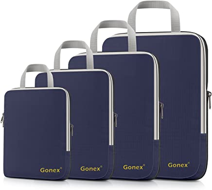 Gonex Extensible Packing Cubes 4 sets (Purplish Blue)