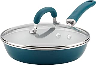 Rachael Ray 12011 Create Delicious Deep Nonstick Frying Pan / Fry Pan / Skillet with Lid - 9.5 Inch, Blue