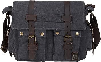Peacechaos Men's Canvas Leather DSLR SLR Vintage Camera Messenger Bag …