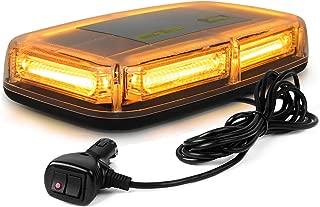 WoneNice 12V 60W 6-COB LED Emergenecy Warning Flashing Lights Amber Hazard Beacon Lights Bar Recovery Strobe Light with Magnetic Base for Car Vehicle Truck