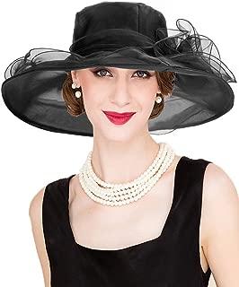 Dafunna Women's Organza Church Derby Hat Kentucky Fascinator Tea Party Bridal Shower Wedding Hat