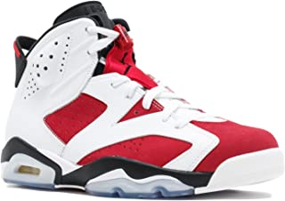 Jordan Air Retro 6 Men's Shoes White/Carmine-Black 384664-160