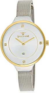 Spectrum Women's White Dial Stainless Steel Mesh Band Watch - 25159L-3