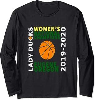 Duck Women's Basketball Inspirational Oregon Champions Fun Long Sleeve T-Shirt