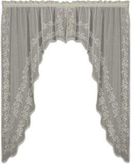 Heritage Lace Sheer Divine Swag Pair, 80 by 63-Inch, Flax