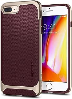 Spigen Neo Hybrid Designed for Apple iPhone 8 Plus Case (2017) / Designed for iPhone 7 Plus Case (2016) - Champagne Gold & Burgundy