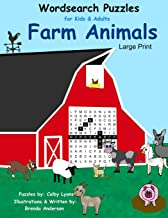 Word Search Puzzles Farm Animals: For kids and Adults Large Print