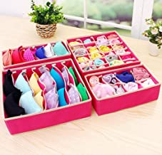 Drawer Organisers Foldable Closet Dividers Non-Woven Fabric Underwear Storage Boxes for Underpants Bras Socks Handkerchief...