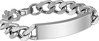 Best mens chain id bracelet Reviews