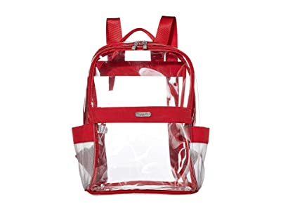 Baggallini Clear Event Compliant Medium Backpack (Red) Backpack Bags