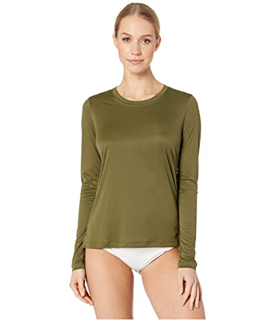 Hurley Long Sleeve Quick Dry Tee (Olive Canvas) Women