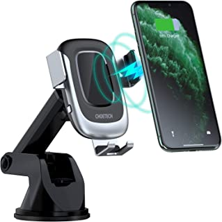 CHOETECH Wireless Car Charger, Auto-Clamping 15W Max Fast Charging Car Mount, USB C Phone Holder Compatible with iPhone 11...