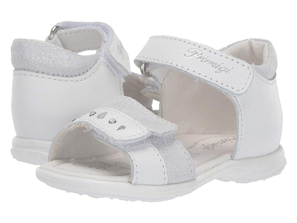 Primigi Kids PBT 34070 (Infant/Toddler) (White/Silver) Girls Shoes