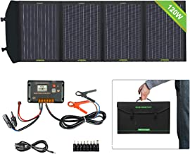 ECO-WORTHY 120W Foldable Solar Panel kit with 20A LCD Charger Controller with USB Port for Portable Generator/Power Station/Battery Bank/USB Devices Mobile Phone Laptop