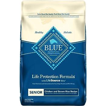 Blue Buffalo Life Protection Formula Senior Dog Food – Natural Dry Dog Food for Senior Dogs – Chicken & Brown Rice – 30 lb. Bag (596022)