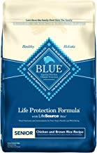 Blue Buffalo Life Protection Formula Senior Dog Food – Natural Dry Dog Food for Senior Dogs – Chicken & Brown Rice – 30 lb. Bag