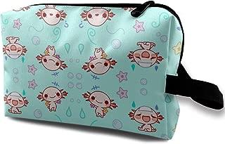 ShenTen Eloise The Axolotl Kawaii Cute Animal Portable Makeup Bag Travel Organizer/Multifunction Cosmetic Case,Travel Luggage Clothes Storage Bag