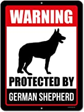 german shepherd warning