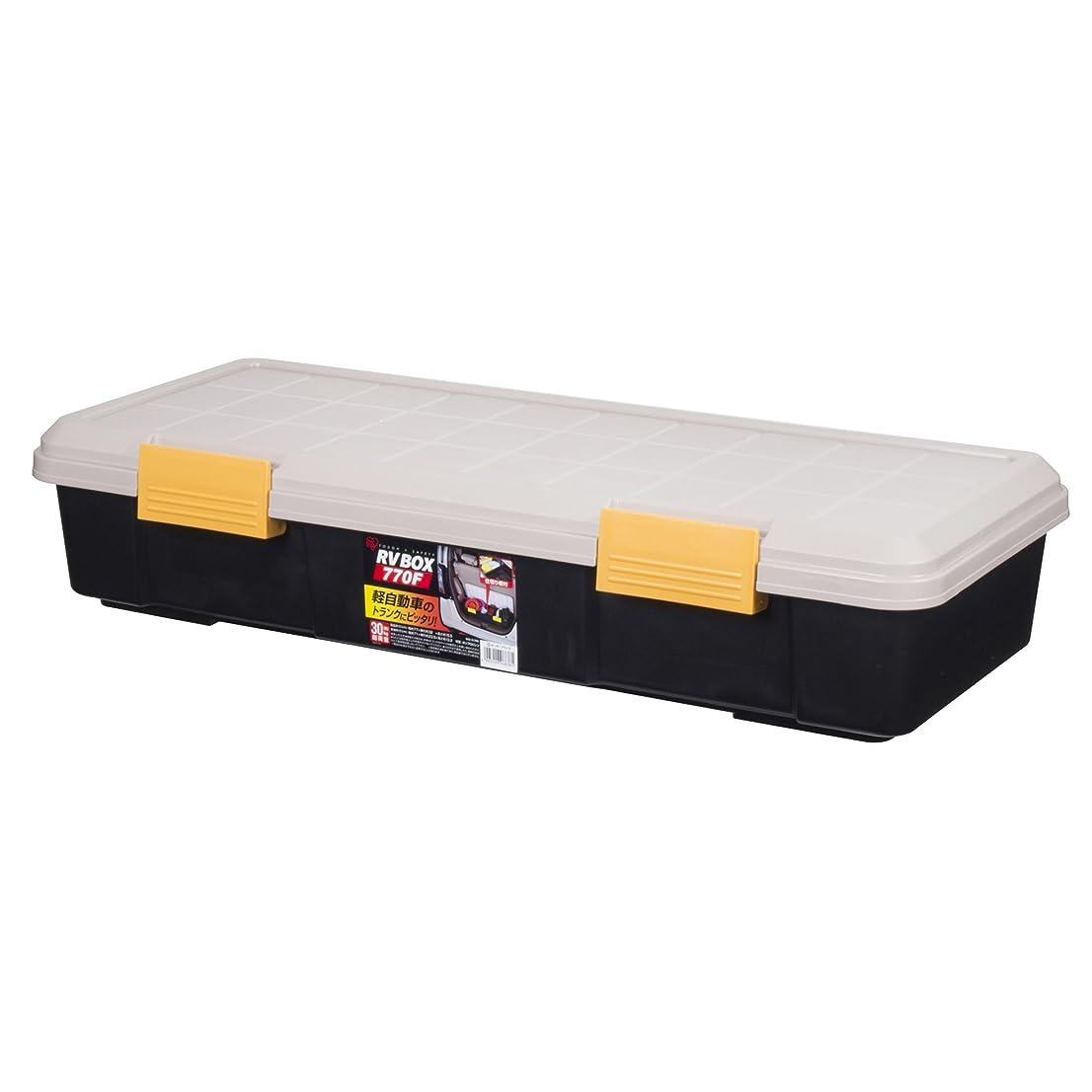 自動化悲惨な便利さアイリスオーヤマ ボックス  仕切り板付き RVBOX 770F カーキ/ブラック 幅77×奥行32×高さ15.5cm