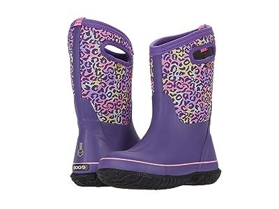 Bogs Kids Classic Leopard (Toddler/Little Kid/Big Kid) (Purple Multi) Girls Shoes