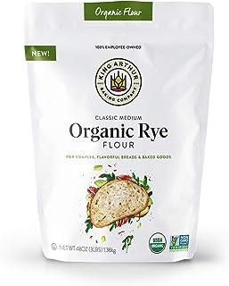 King Arthur Flour Arthur Classic Medium Organic Rye Flour For Complex Flavorful Breads & Baked Goods 100% Organic NonGMO P...