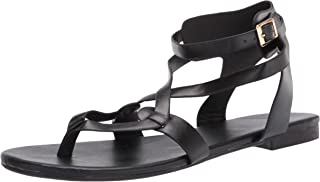 Womens Strappy Sandals Gladiator Thong Ankle Strap Summer Beach Flat Sandals