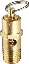 Kingston KSV10 Series Brass ASME-Code Low Profile Safety Valve, 125 psi Set Pressure, 1/4