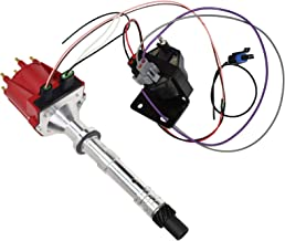 A-Team Performance EST Marine Electronic Ignition Distributor and Coil Upgrade Kit Compatible with Mercruiser Chevy Volvo Penta OMC Indmar 807964A1 V6 4.3L Red Cap