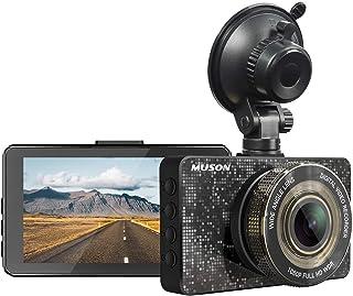 Dash Cam MUSON Car Dash Cam 1080P Full HD 3.2-inch Dashboard Camera, Super Night Vision with 170° Wide Angle, Loop Recordi...