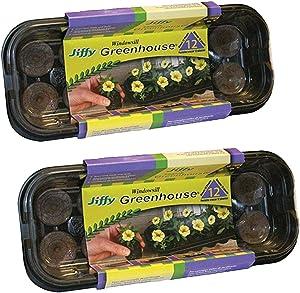 Jiffy 36mm Windowsill Greenhouse (2 Pack)