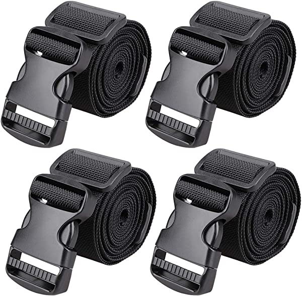 MAGARROW 65 1 5 Utility Straps With Buckle Adjustable 4 Pack Black 4 PCS