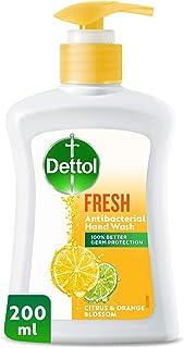 Dettol Fresh Anti-Bacterial Liquid Hand Wash 200ml - Citrus & Orange Blossom
