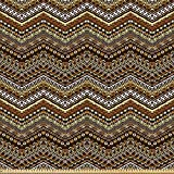 ABAKUHAUS Sambia Stoff als Meterware, African Style Tribal,